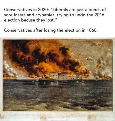 Liberals are such sore losers!