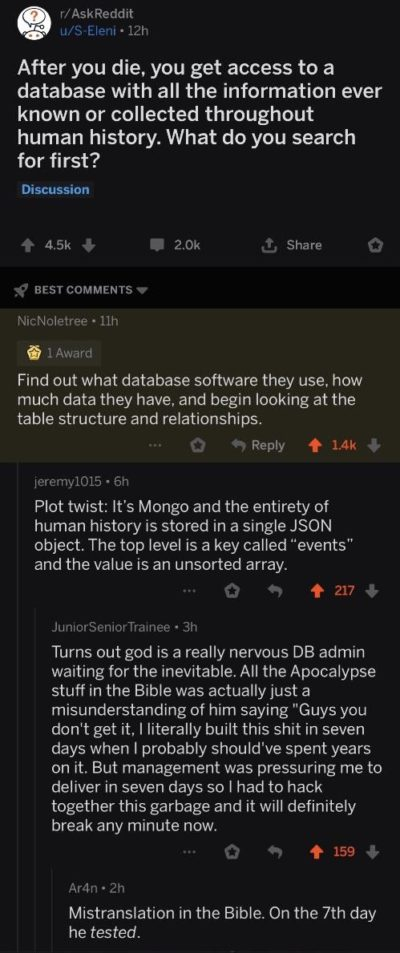 That's a lot of data