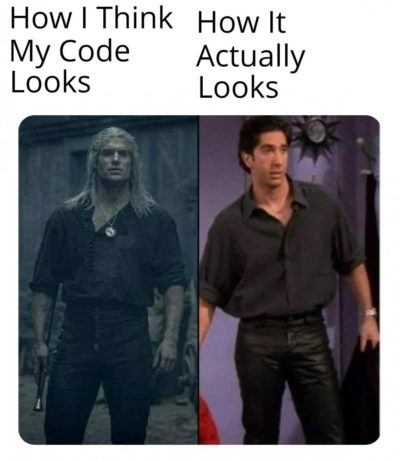 Cries in unindented code