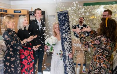 Single mum marries her rug in ceremony surrounded by friends – calls him Mat.