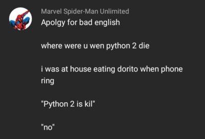 Python 2 is kil