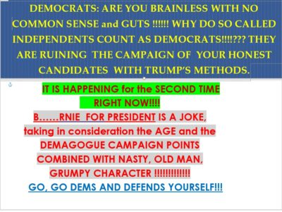DEMOCRATS: ARE YOU BRAINLESS…