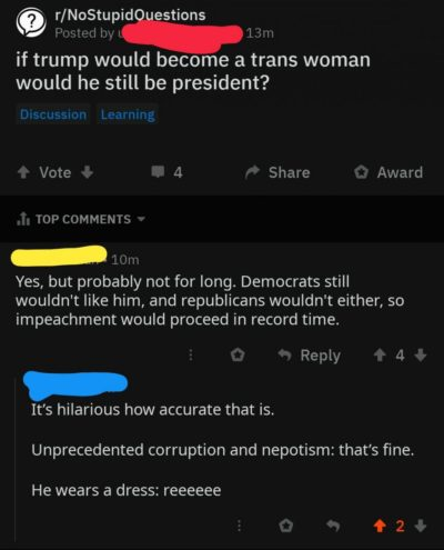 What if Trump was trans