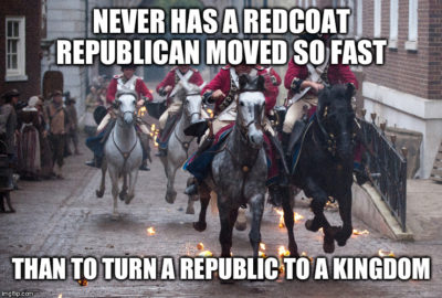 Since the Republicans like the color red and to betray America…