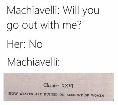 Machiavelli was… conflicted