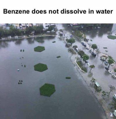 Floating benzene