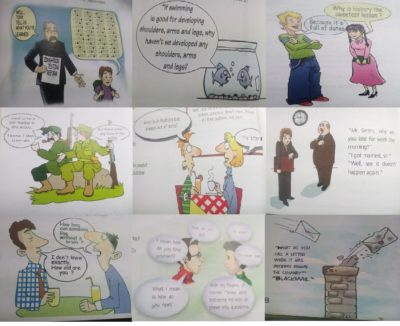 Big noses and horrible punchlines – enjoy this compilation of boomer comics taken from my 10th grade English book!