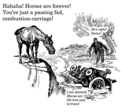 """Horses are superior"" – 1920's boomers"