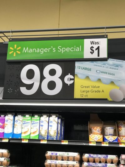 This sale on eggs is just rotten