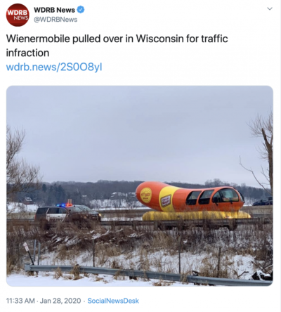 The driver wasn't wearing a meat belt.