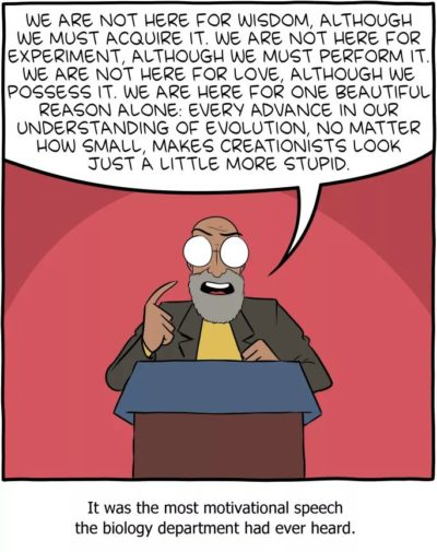 Not OC but deserved a spot here. Check out SMBC Comics for similar content.
