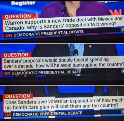 Joke: CNN is neutral about Bernie