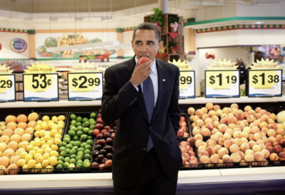 """POTUS with a peach, as opposed to…"""