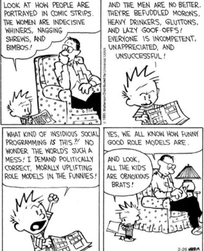 Calvin was ahead of his time in recognizing boomers humor