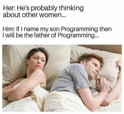 He want to be a Father of programming!!