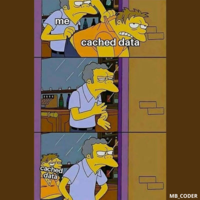 When you try to clear the cache data 😂