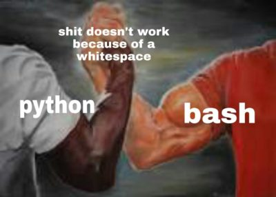 I love wasting my time due to whitespaces