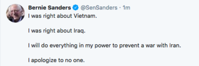 Bernie takes the gloves off