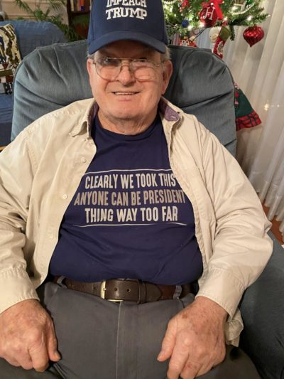 My Papa and his political shirts again!