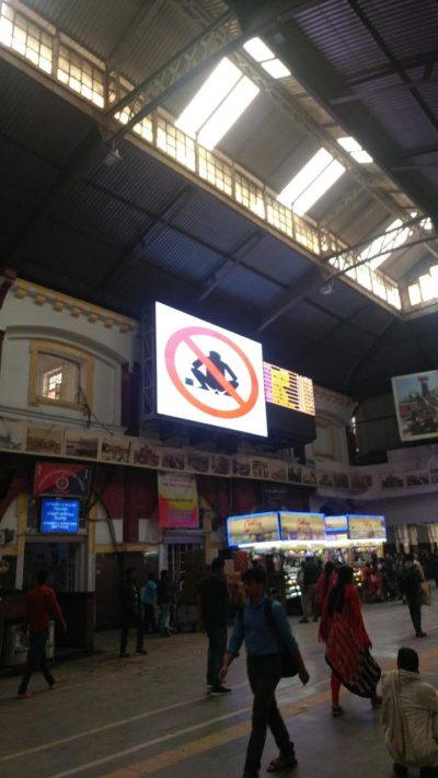 Here's a picture inside of the busiest railway station ( Howrah Station) in India!