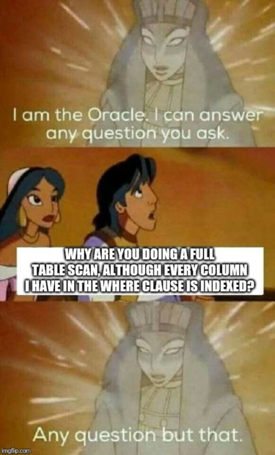 Oracle cannot answer every Question after all