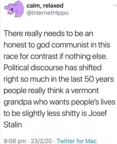 Comrade Bernie.