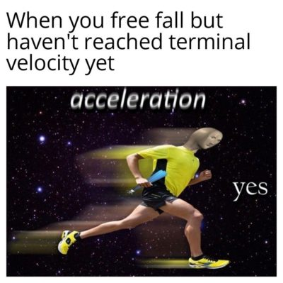 Acceleration very fast