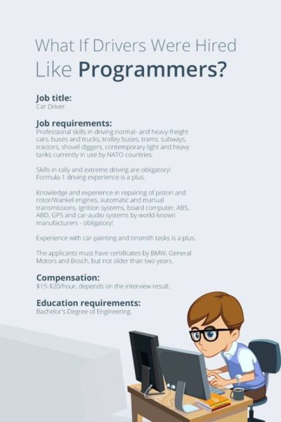 What if drivers were hired like programmers?