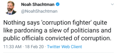 I want to fight (for) corruption!