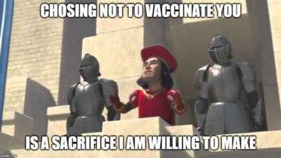 Anti-Vax Parents be like: