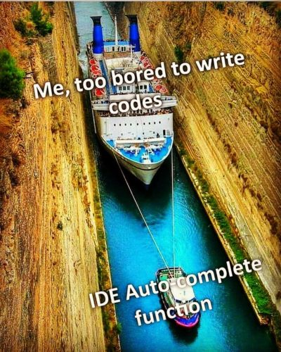 IDE auto-complete 👌👌