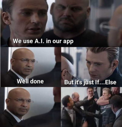 We use A.I. in our app