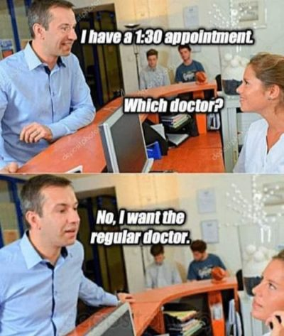 Going to the doctor.