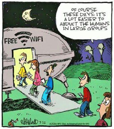 Wifi = aliens?