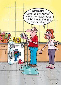Haha husband can't do housework