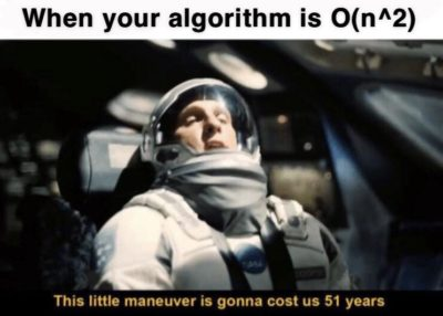 Having an algorithm O(n^2)