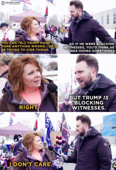 Trump supporters in a nutshell. This is why America is the way it is right now