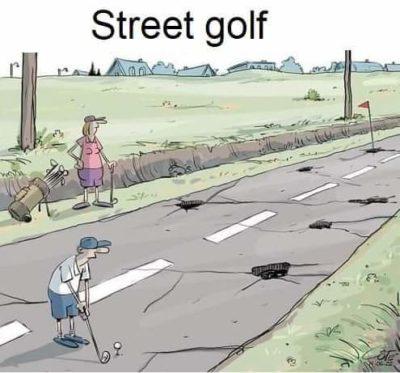Blasted potholes