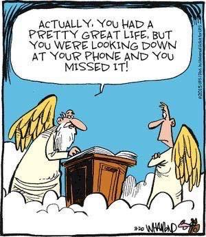 Even God hates cell phones