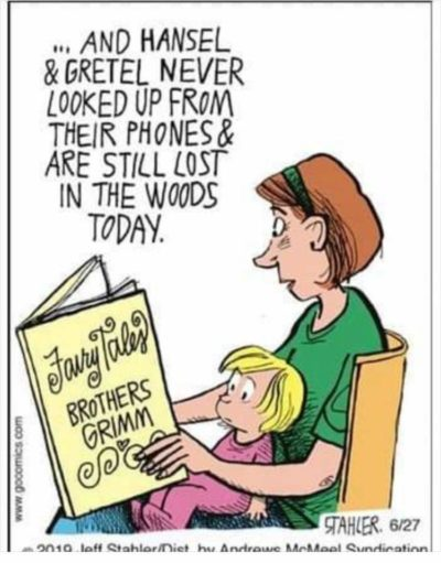 Because phones are baaaaaad, and kids don't look up anymore!