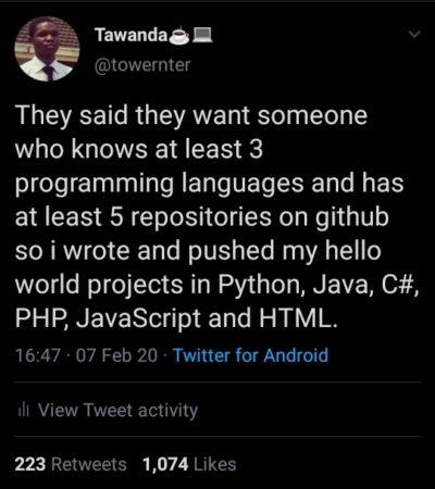 Programming life hack