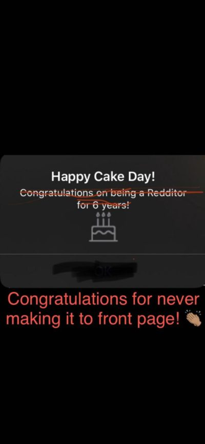 Fixed : Happy Cakeday!