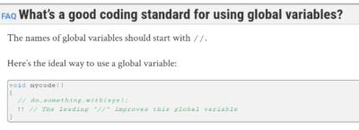 Official ISO C++ FAQ on global variables