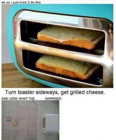 Homemade toast-a-chee