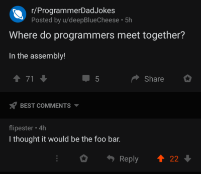 The real programmer joke