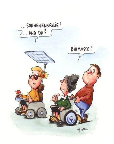 Solar energy? No, burning biomass.