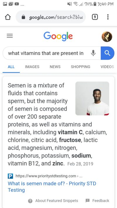 Your cum packs more vitamins and minerals than your food…