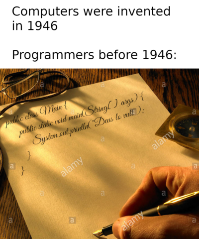 Programmers before computers were invented