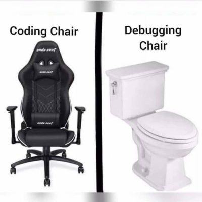 How many great discoveries you have thought of sitting on the debugging chair