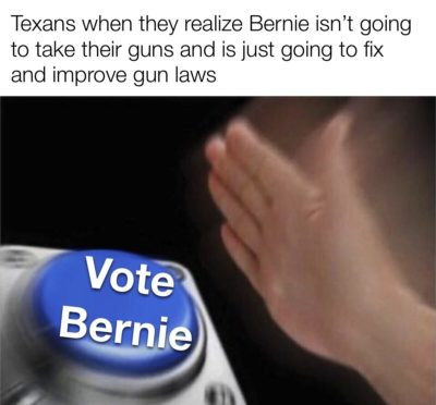 Texan pro gun leftist can confirm